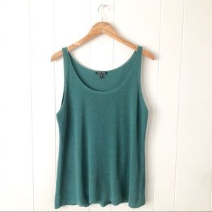 Eileen Fisher Teal Knit Tank Top